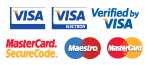 We accept Visa, Maestro and Mastercard